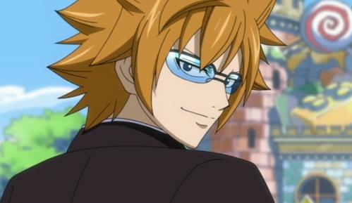 Loke/Leo (Fairy Tail) has dark laranja hair :)