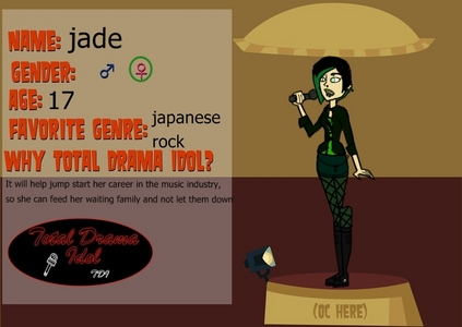 Name: jade Age: 17 Bio: With her father who died when she was 9,she is now racked with guilt and in charge of 6 kids with only her sister Molly(14) and her brother Max(14) due to the fact her mother is weak and cant do much anymore.She works 3 jobs one as a band artist and wishes for a career in it to help for her family. Personality: kind but blunt and takes no shit from anyone Would they want to be a Dreamer? you choose if shes suited for that or not How are they survival wise? use their wit and bravery to make it out alive Picture: