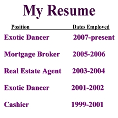 Are those the characteristics on your resume? Oh yea, it's right here! (It's the picture)