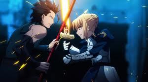 Saber from Fate/Zero :D she's such an epic fighter and one of my प्रिय female characters.. ! ( she's the one on the right )