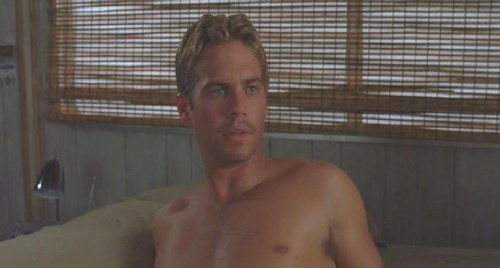 my 2nd fave hottie,Paul Walker looks deliciously good shirtless<3<3<3
