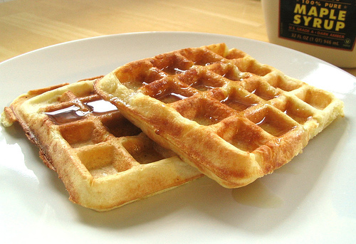 waffles with syrup. :)