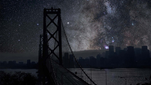 Looking at Болталка Astronomy pictures~ Have Ты ever wondered what it would look like if major cities lights were just to all turn off? :3 San Francisco~