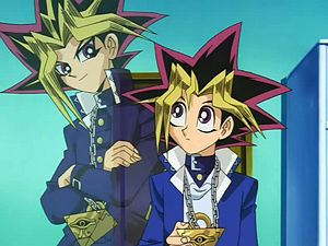 Yugi Moto. (Not: Atem/Spirit of the puzzle Yami) for a student in High school Yugi could pass as a Grade school student, however he never lets his size compromise defending his friends. in a दिखाना where fighting evil isn't a contact sport Yugi shows us that आप can fight the shadows no mater what size आप are. Kazuki Takahashi stated that Yugi is in fact, diabetic, which is how he explained his short stature. that's what Takahashi's thinking was when he made the character (photo: Yugi is on the right)