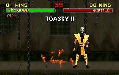 Toasty!! escorpión wins!!