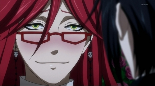 Grell has green eyes!!