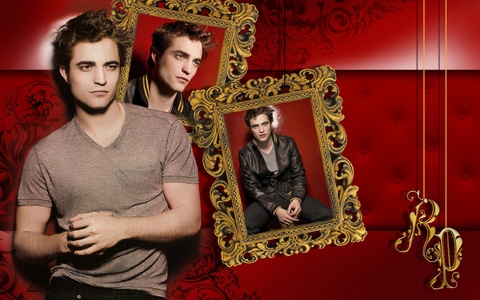 my red hot Robert with a red background<3