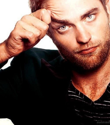 my gorgeous Robert with both of his mesmerizing eyes open.I can't look away from those eyes...not that I'd ever want to<3