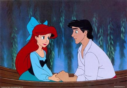 Ariel the Little Mermaid and Prince Eric