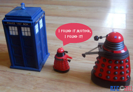 "I would be like ""Well done baby dalek..And you've also found The Tardis? Well done. Im proud of you baby."""