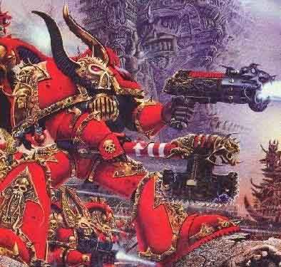 To be a member of the chaos marine chapter The World Eaters.
