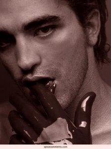 Mmmm,chocolate covered fingers I want a taste<3