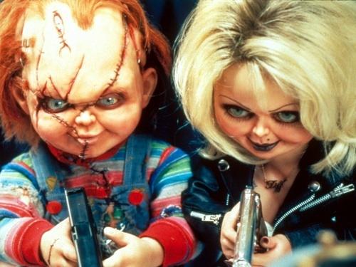 Horror villain Chucky(Brad Dourif) & Tiffany(Jennifer Tilly)
