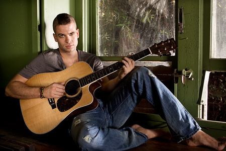 Mark Salling playing a guitar!