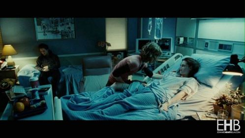 my handsome baby in a scene from Twilight pretending to be asleep<3