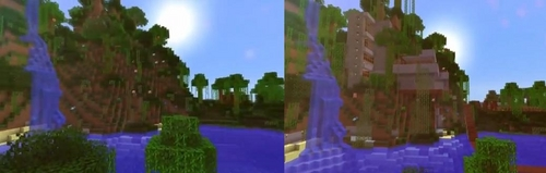 My minecraft Oasis I built it is amazing! You'll faint trust me!