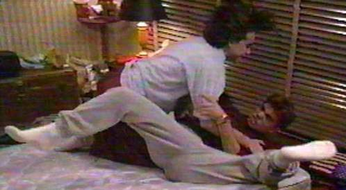 Matthew wrestling with Rider Strong. :D