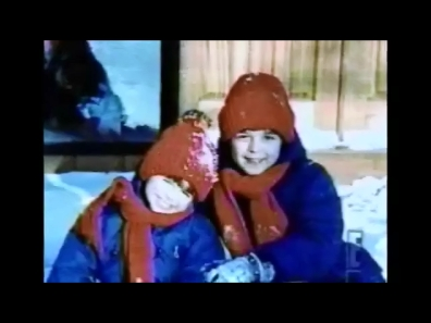 Matthew and Joey wearing winter clothes where it's cold out.:)
