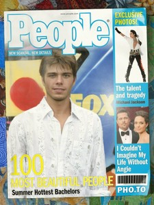 Matthew looking so handsome on the magazine cover. :)