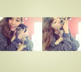8 but here's a picture of me and one of my Cani , Excuse my face but it's from my Instagram .