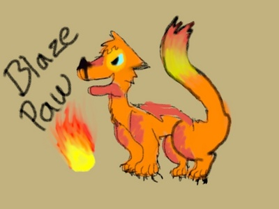 Blazepaw Tom 7 summers old Apprentice आग फर Desertpack Kind. Tough and cunning in battles. Brags if he does something that helped the clan