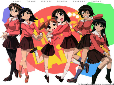 I've never watched this anime, so I don't wana look it up and find a picture :P Lucky stella, star kind of has the same uniforms, but for some reason I feel like this Anime would be like Azumanga Daioh sorry if te don't like it -3-