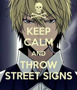 """If u mean """"powerful"""" as """"strong"""", that would be Shizuo from Durarara. XD!"""