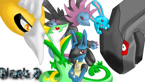 Here is my dream team which came reality X3: Sny (Serperior) Rio (lucario) Zuzu ( Azumarill) Zack ( Zekrom) Hedreigon Shiny Ho-oh All of them on level 100 ^^ Oh and the picrure was drawn par me so no mean commentaires please X3