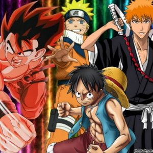 My superiore, in alto 10 animes r............. but the first 4 r my favourites favourite: 1)Bleach 2)One Piece 3)Naruto + shippuden 4)Dragonball+ Z+GT 5)Rouroni Kenshin 6)Inuyasha + Final act 7)Get backers 8)Slam dunk 9)Card captors 10)Durarara
