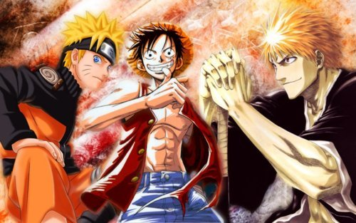 My best shows r......... These 3 r the kings of the anime world......... 1)Bleach 2)One Piece 3)Naruto + Shippuden