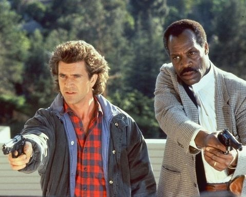Mel Gibson & Danny Glover on Lethal Weapon
