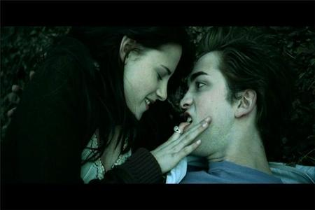 my sexy baby in a deleted scene from Twilight with Kristen's finger in his mouth<3<3<3