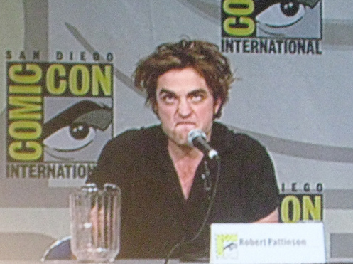 my baby making a stupid face at the 2008 Comic Con(but I still find it sexy)<3