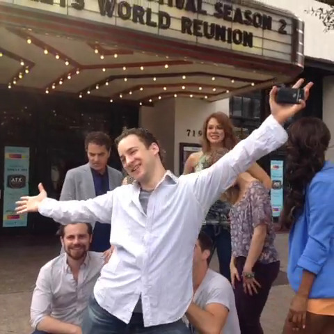 Matthew's co-star and friend, Ben Savage doing a silly pose at the camera. XD
