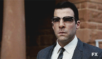 Zachary Quinto as Oliver Thredson (aka Bloody Face) looking rather furious in American Horror Story. <3