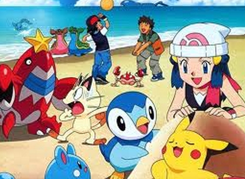 Here's a Pokemon related beach/summer picture! looks kind of fun too!