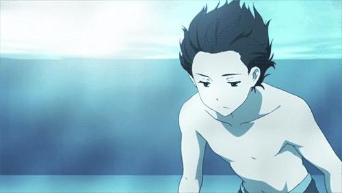 Oreki underwater. ~