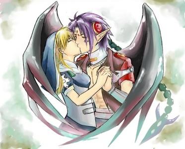 Actually, there are a few I like- Kouta & Lucy [Elfen Lied] Hideki & Chii [Chobits] Zero & Yuuki [Vampire Knight] Chrno & Rossette [Chrno Crusade] -picture- Yorito & Matsuri [Sola] Renton & Eureka [Eureka 7] Shinra & Celty [Durarara!!] Brief & Panty [Panty&Stocking with Garterbelt] Battler & Beatrice [Umineko No Naku Koro Ni] Seishin & Sunako and Seishirou & Chizuru [Shiki]