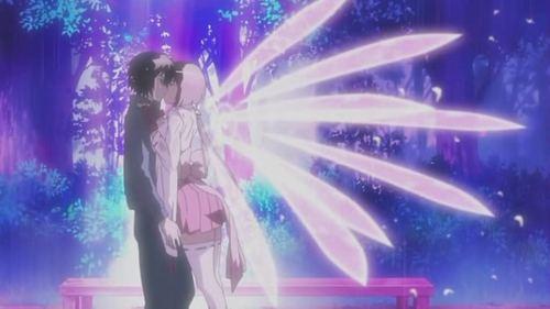 Kaito and Ichika from Ano Natsu De Matteru (Waiting in the Summer) Minato and Musubi from Sekirei. **PICTURE**