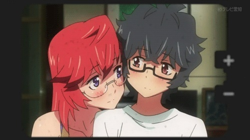 Kaito and Ichika from Ano Natsu de Matteru Kaito is the guy, Ichika is the girl. Ichika is an alien whilst Kaito is the human. Finished this animê earlier this morning :P