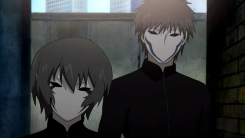 Ein and Zwei, from Requiem for the Phantom. Awesome show.