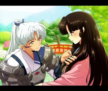 Inuyasha's father & mother (Inuyasha) Father a great deamon....... Mother a beautiful human.................