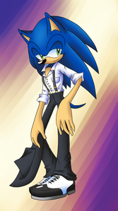 I got a crush on Sonic because he was the one who was lovable hedgehog in the whole world.