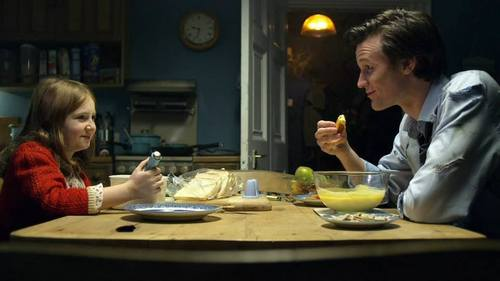 The Doctor dinning with little Amelia
