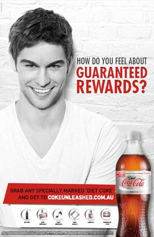 Chace Crawford and Diet Coke.