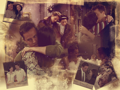 Monica and Chandler from Friends. :)