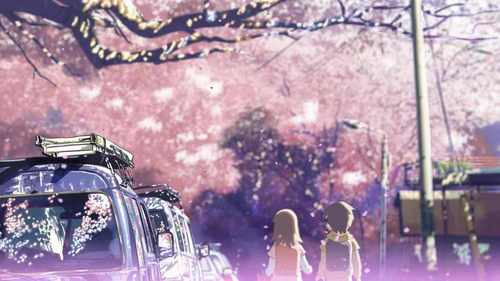 """Well, if 你 talk about how well the 日本动漫 was drawn in relation to the story, i would suggest """"five centimeters per second."""" it has great art and a good sad plot that leaves 你 both happy and sad at the end....... and i also like """"Garden Of Words,"""" """"K"""",""""Clannad"""" and """"Clannad-After Story."""" All of them 显示 great art style in the drawing tagged along with a good. It really brings out the beauty of the story. (note: the image is a screen shot from five centimeters per second)"""