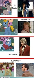 Duh they are time lords :) in the episode sweet and elite, when rarity is at the canterlot party, we see 3 더 많이 ponies with exact same cutie marks. So I think hasbro is just going with some dr. Who stuff.