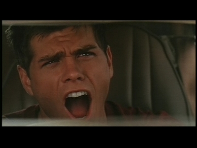 Matthew screaming in his car after known who the criminal (Rob Schneider) was. :D