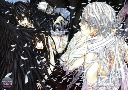 Vampire knight:Kaname,Yuki,and Zero!! :)